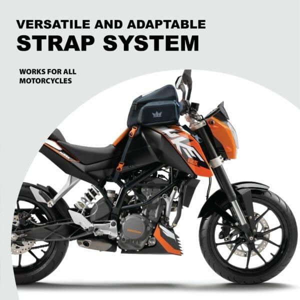 Gods Zeon R1 - Motorcycle Tank Bag with Capsule Rain Cover (Fibre Tank) - RoadGods