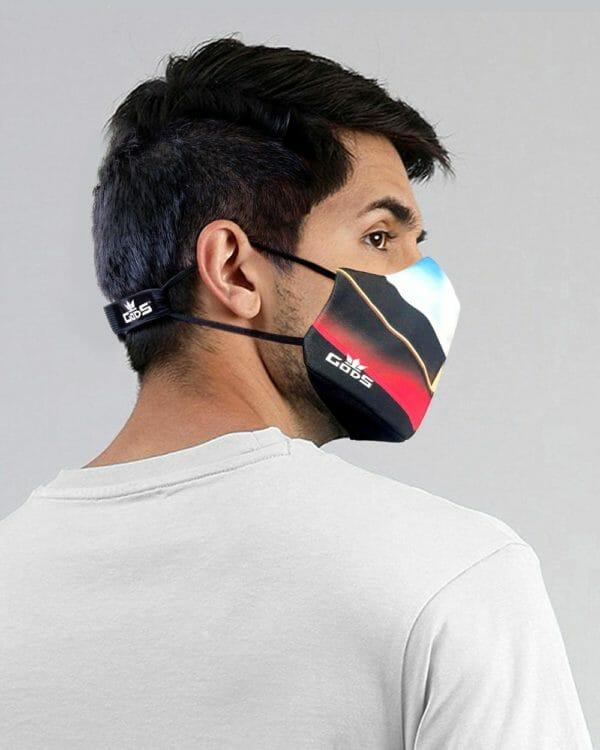 Xator Combat Face Protector Mask (Black Multi Color) - RoadGods