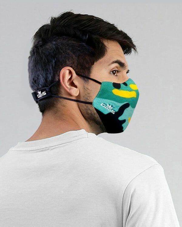 Xator Combat Face Protector Mask (Green Camo) - RoadGods