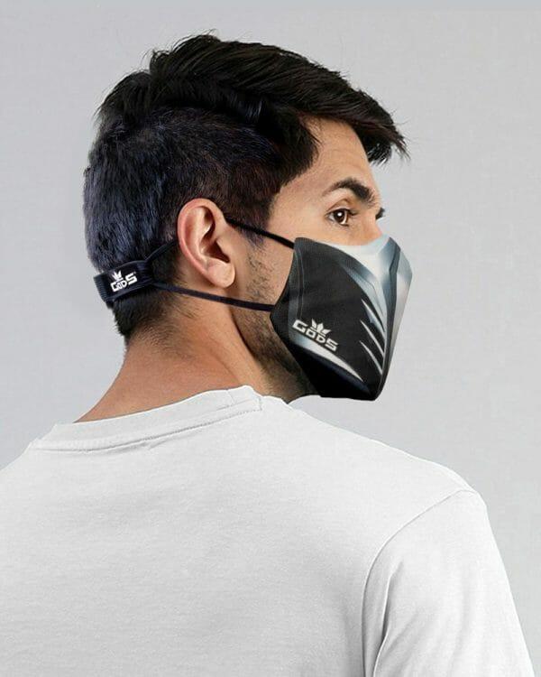 Xator Combat Face Protector Mask (Steel Black) - RoadGods
