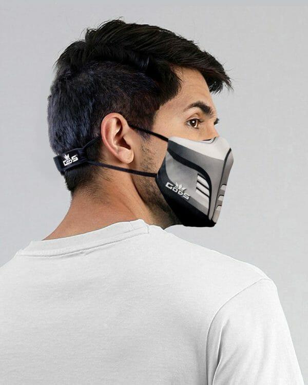Xator Combat Face Protector Mask (Silver) - RoadGods