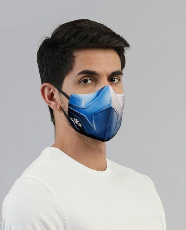 Copy of Xator Combat Face Protector Mask (Metal Blue) - RoadGods