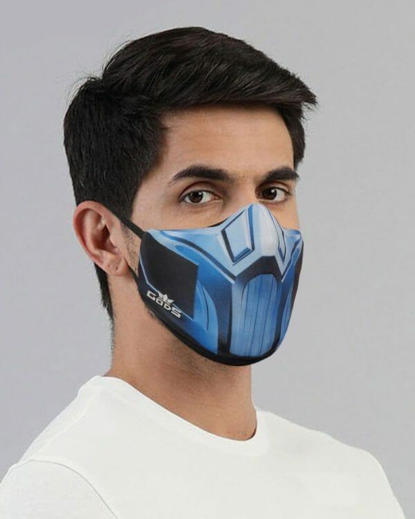 Xator Combat Face Protector Mask (Blue) - RoadGods