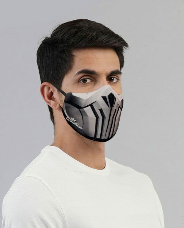 Xator Combat Face Protector Mask (Silver Grey) - RoadGods