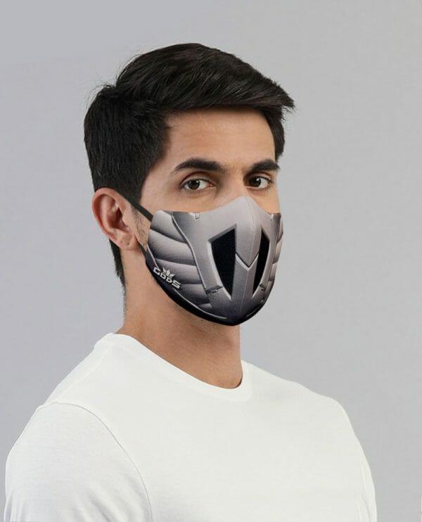Xator Combat Face Protector Mask (Silver Black) - RoadGods