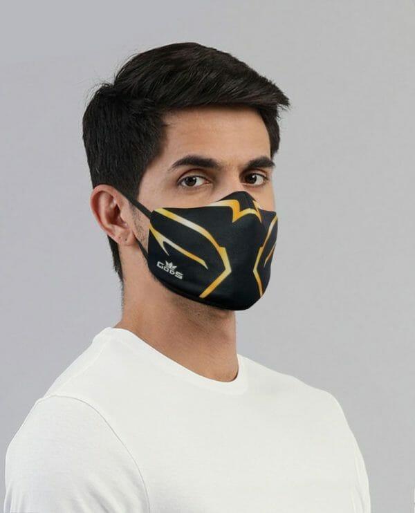 Xator Combat Face Protector Mask (Black Gold) - RoadGods