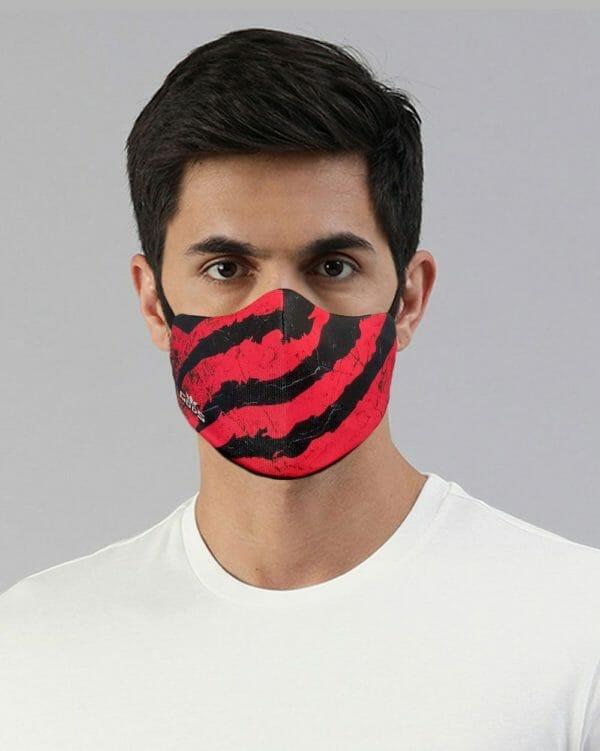 Xator Combat Face Protector Mask (Red Black) - RoadGods