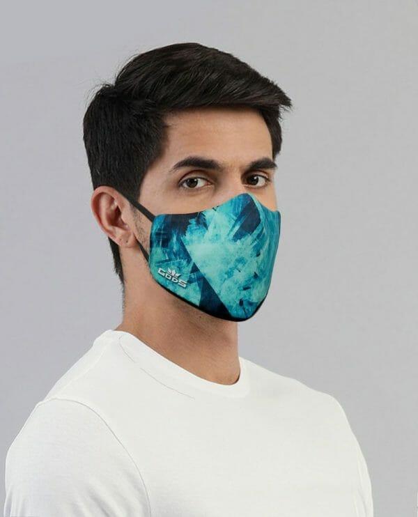 Xator Combat Face Protector Mask (Sea Blue) - RoadGods