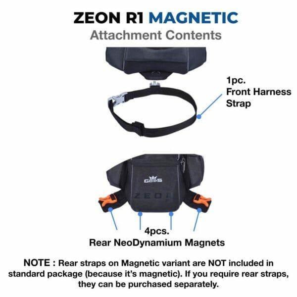Gods Zeon R1 Magnetic (Metal Tank) - Motorcycle Tank Bag with Capsule Rain Cover (Metal Tank) - RoadGods