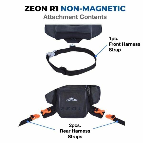 Gods Zeon R1 (Fibre Tank) - Motorcycle Tank Bag with Capsule Rain Cover - RoadGods