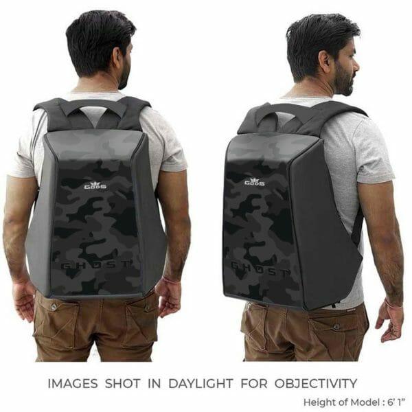 Ghost Black Camo - Anti-Theft Laptop Backpack - RoadGods