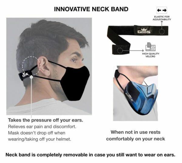 Xator Combat Face Protector Mask - Black Multi Color - RoadGods