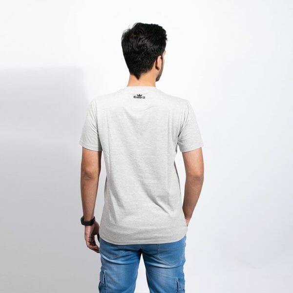 Grunge Crown Men's Grey T-shirt - Gods Exclusive Collection - RoadGods