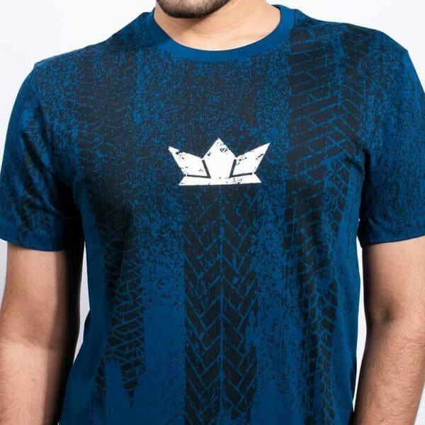 Tyre tread Men's Blue T-shirt - Gods Exclusive Collection - RoadGods