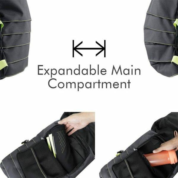 AEROS 12 - Expandable Light-Weight Laptop Backpack - RoadGods