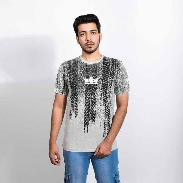 Tyre tread Men's Grey T-shirt - Gods Exclusive Collection - RoadGods