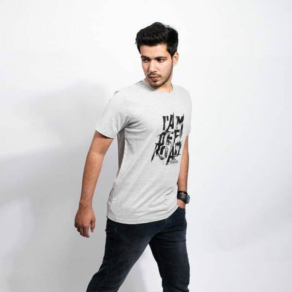 I am Off-Road Men's Grey T-shirt - Gods Exclusive Collection - RoadGods