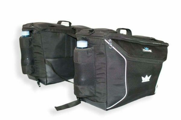 Gods Triton X1 - 75Ltr Saddlebag with Capsule Rain Cover - RoadGods